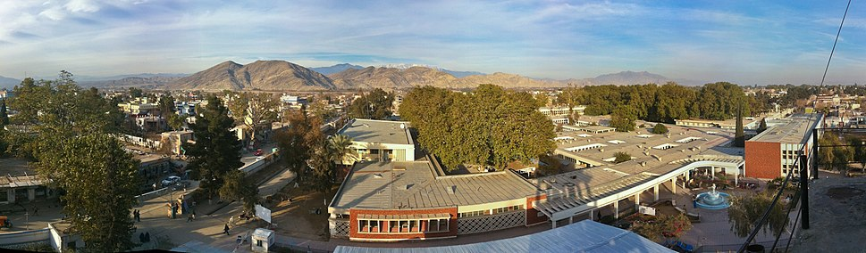 A panoramic view of a section of Jalalabad