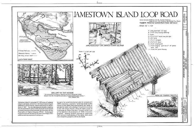 File:Jamestown Island Loop Road, Jamestown Island, Jamestown, James City County, VA HAER VA,48-JAM.V,1- (sheet 1 of 1).tif