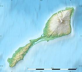 Carte topographique de l'île Jan Mayen.