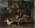Jan Pauwel Gillemans (I) - Still Life with Fruit, a Parrot and Polecat Ferrets.jpg