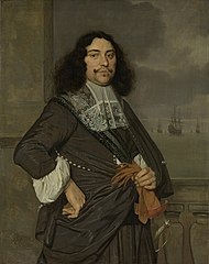 Portrait of Jan van Nes (1631-80). Vice admiral of Holland and West-Friesland