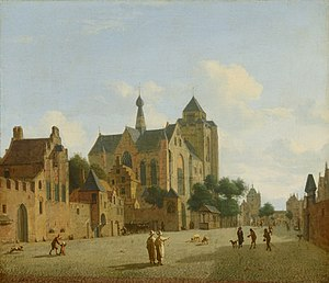 Veere - The church in Veere, by Jan van der Heyden (1637–1712)