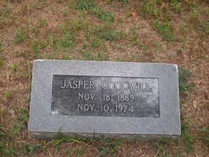 Jasper Goodwill - Grave of former Mayor Jasper Goodwill in Minden Cemetery