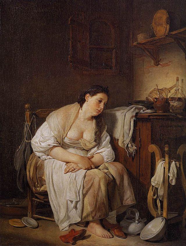 Jean-Baptiste Greuze - Indolence (La Paresseuse Italienne) - WGA10666.jpg