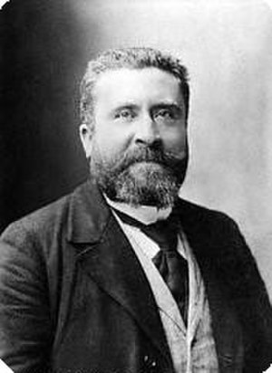International Socialist Congress, Stuttgart 1907 - French delegate Jean Jaurès, co-author of a radical minority draft resolution which called for general strike and armed uprising in the event of war.