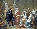 Jean-Joseph Ansiaux, Cardinal Richelieu presenting Poussin to Louis XIII, 1817.jpg