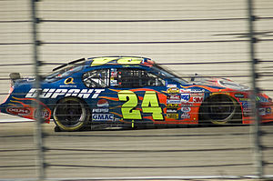 Jeff Gordon coming out of Turn 2 at the Texas ...