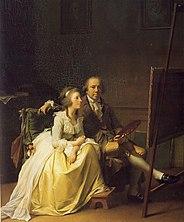 L'artiste et sa femme Rosine, née Dørschel