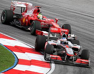 Ferrari F10 - Image: Jenson Button and Felipe Massa 2010 Malaysia