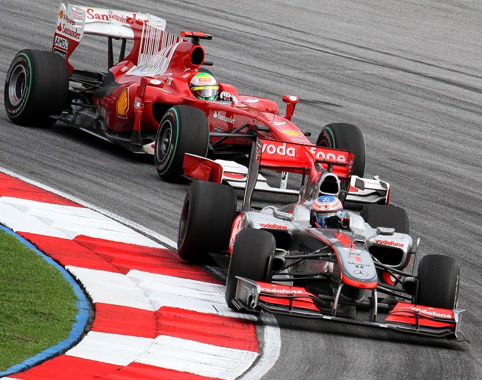Jenson Button and Felipe Massa 2010 Malaysia