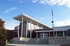 Jasper, Indiana - Front entrance to Jasper High School