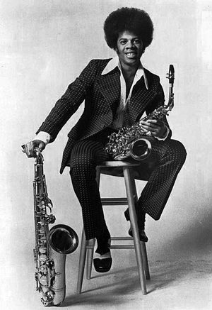 Multi-instrumentalist - Jimmy Castor with two types of saxophone
