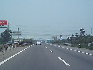 Jingjintang Expressway expressway between Beijing and Tianjin in China