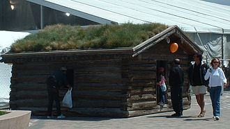 Jack London Square - Reconstruction of Jack London's Klondike Hut in Jack London Square