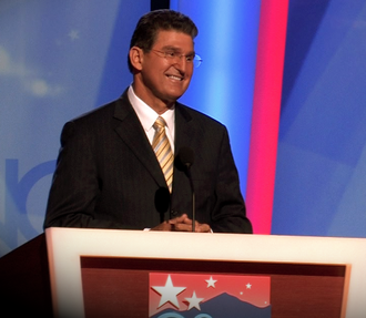 Joe Manchin - Manchin speaks during the second day of the 2008 Democratic National Convention in Denver, Colorado, in his capacity as chair of the Democratic Governors Association.