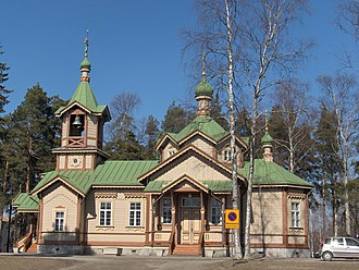 Finnish Orthodox Church - Another St. Nicholas Church in Joensuu (1887), perhaps the most impressive wooden Orthodox church in Finland.