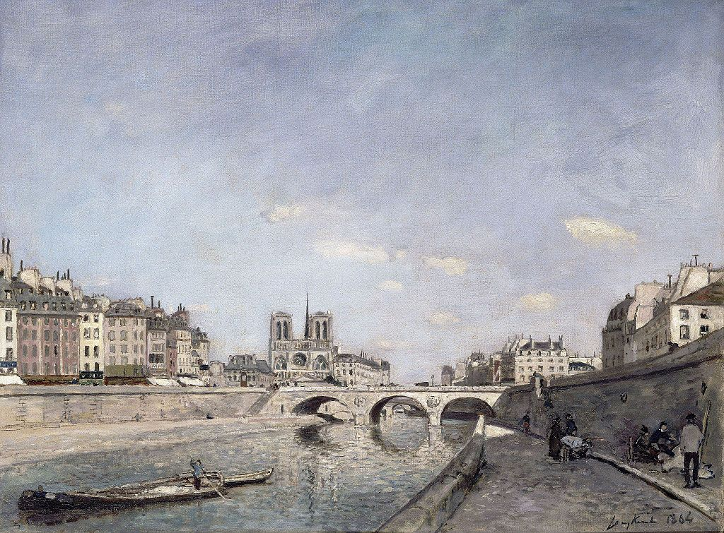 """""""The Seine and Notre-Dame in Paris"""" by Johan Jongkind"""