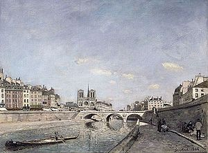Johan Jongkind - The Seine and Notre-Dame in Paris, 1864, Musée d'Orsay, Paris