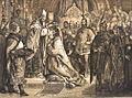 Johann Nepomuk Geiger Stephan der Heilige wird zum Ungarischen König gekrönt.jpg