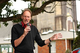 John Minto - Minto at a 2012 Auckland Action Against Poverty beneficiary impact