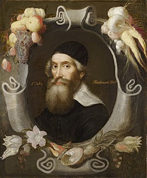 John Tradescant the Elder - John Tradescant the Elder (portrait attributed to Cornelis de Neve)
