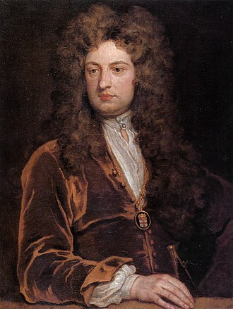 Godfrey Kneller - Sir John Vanbrugh in Kneller's Kit-cat portrait, considered one of Kneller's finest portraits