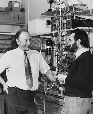 John Vane - John Vane and Salvador Moncada in the 1960s