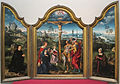 Joos van cleve, trittico della crocifissione tra i committenti inginocchiati, 1500-1550 ca. 01.JPG