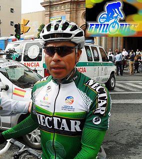 Flober Peña Colombian racing cyclist