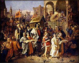 Josef Matyáš Trenkwald - Image: Josef Matyáš Trenkwald Přenesení ostatků biskupa Vojtěcha do Prahy