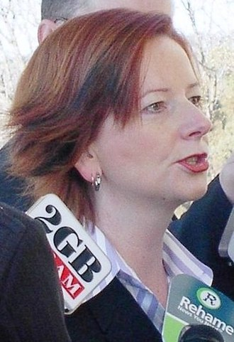 2006 Australian Labor Party leadership spill - Image: Juliagillard CROP