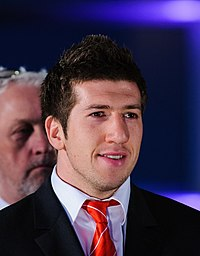 Justin Tipuric. Wales Grand Slam Celebration, Senedd 19 March 2012.jpg