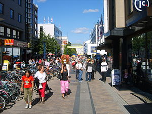 Jyväskylä - A pedestrian street in the downtown