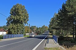 Kamenice nad Lipou, Pravíkov, bridge over Drahoňovcký creek.jpg