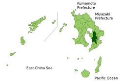 Vị trí của Kanoya ở Kagoshima