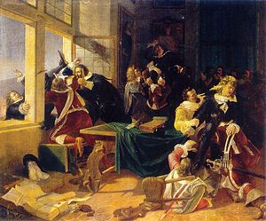 Karel Svoboda (artist) - The Defenestration of Prague of 1618 (1848)
