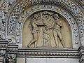 Karlínské náměstí, kostel svatých Cyrila a Metoděje, reliéf nad vstupem - Adam a Eva.jpg