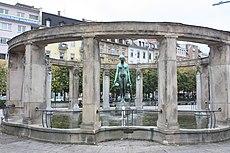 Karlsruhe, der Stephaniebrunnen .JPG