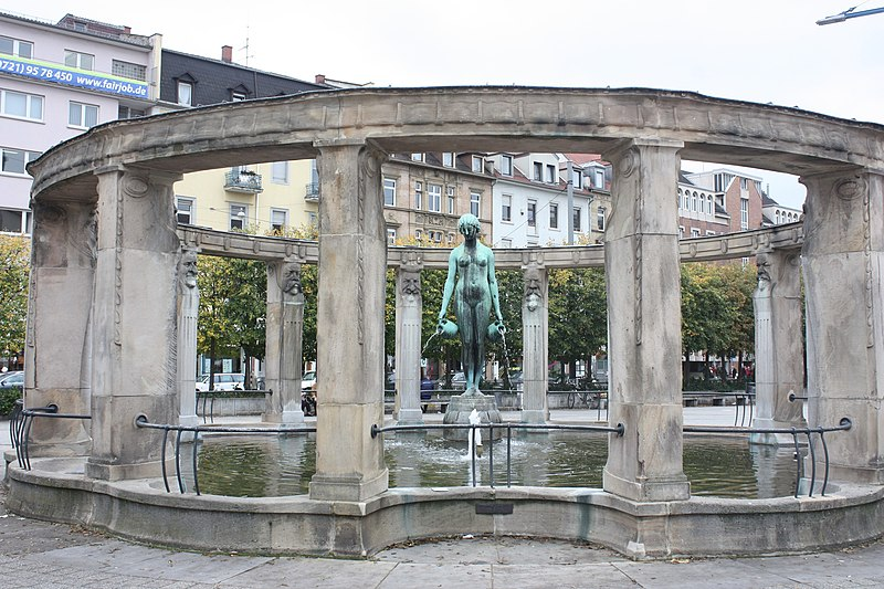File:Karlsruhe, der Stephaniebrunnen .JPG