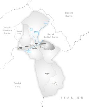 Termen - Image: Karte Gemeinde Termen