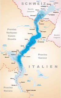 Lago Maggiore Karte.Madžorė Vikipedija