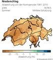 Karte der mittleren Schätzung für die Abweichung des Niederschlags in der Schweiz bzgl. Normperiode 1981-2010 für das Jahr 2085 und für das Klimaszenario RCP8.5.pdf