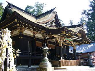 Katori Shrine - The haiden, or prayer hall of Katori Shrine