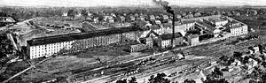 Ambler, Pennsylvania - Image: Keasbey and Mattison plant Ambler PA 1900