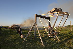 Culture of Estonia - Midsummer bonfire in Keemu, Estonia.