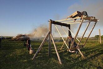 Culture of Estonia - Midsummer bonfire in Keemu, Estonia.