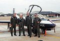 Keith Ferris--aviation artist--with instructor pilots at Columbus AFB--27 June 2007--following a flight in a T-37.jpg