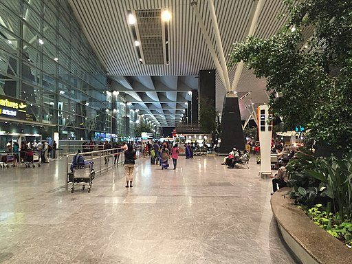 Kempegowda Airport curbside, July 2016