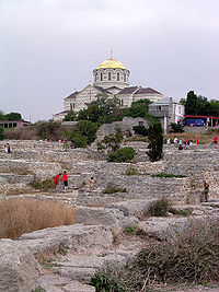 The ruins of Korsun (Chersonesos) Crimea, a place where the East Slavic Christianity was born.