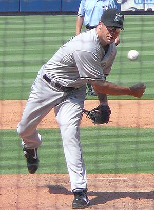 Kevin Gregg - Gregg pitching for the Florida Marlins in 2008.